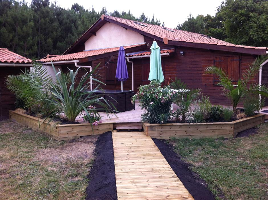 Location gites et chalets dans le m doc for Piscine bois chauffee